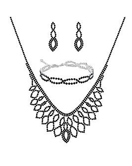 Mood Blue Diamante Jewellery Set