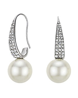 Mood Pearl And Crystal Hook Earring