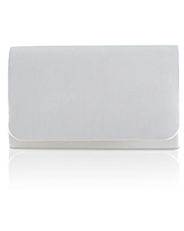 Perfect Laurel Satin Clutch Bag