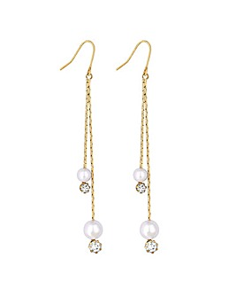Lipsy Crystal Multi Drop Earring