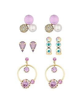 Lipsy Crystal Earring Set