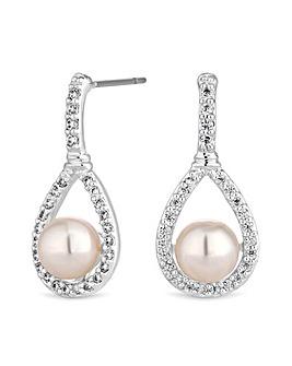 Jon Richard Peardrop Pearl Earring