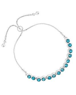 Jon Richard Aqua Crystal Toggle Bracelet