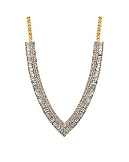 Jon Richard Diamante V Collar Necklace