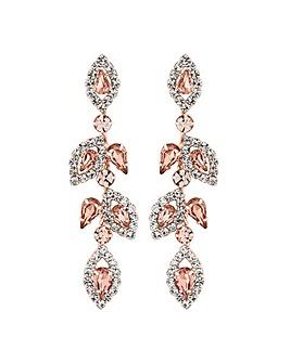 Jon Richard Blush Pink Floral Earring