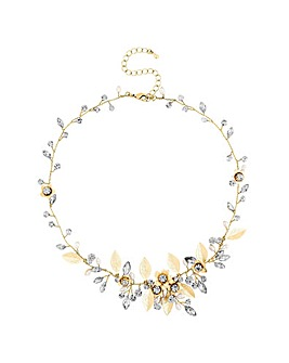 Alan Hannah Crystal Vine Necklace