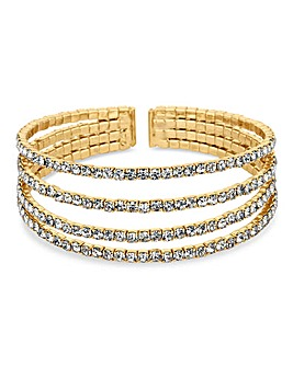 Mood Multi Row Diamante Cuff