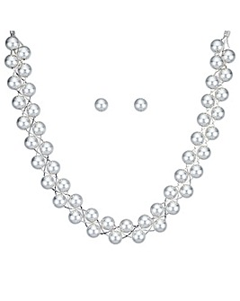 Mood Silver Ball Twist Jewellery Set