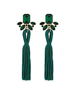 Mood Crystal Tassel Drop Earring