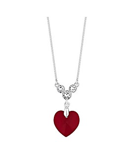 Jon Richard Swarovski Heart Necklace