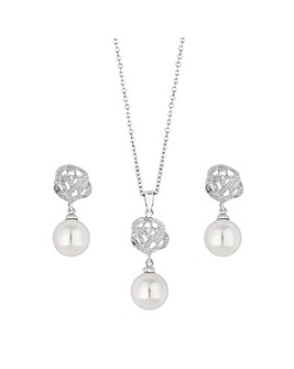 Jon Richard Pearl And Rose Jewellery Set