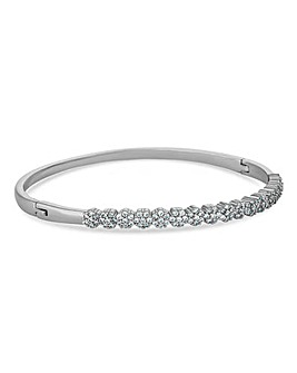 Jon Richard Pave Floral Cluster Bangle