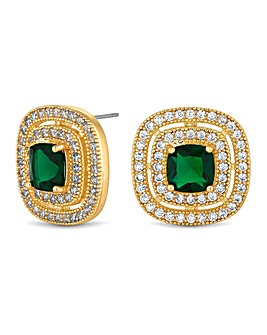 Jon Richard Square Halo Earring