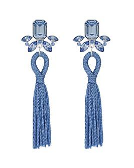 Mood Blue Crystal Tassel Earring