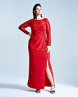Coast Reeva Jersey Lace Maxi Dress