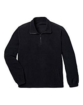 Capsule Black Basic Zip Neck Fleece R
