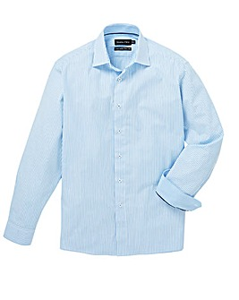 Double Two Blue L/S Stripe Shirt R