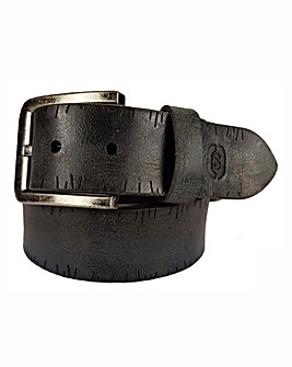 Souled Out Black Casual Leather Belt