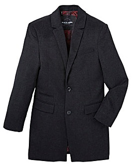 Black Label Checked Wool Smart Coat R