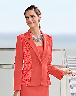 Together Lace Detail Tailored Jacket