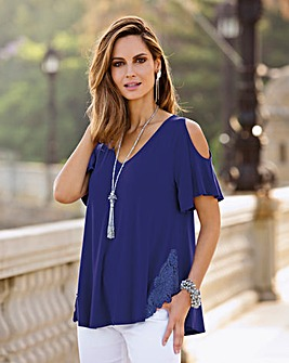 Together Cold Shoulder Jersey Top