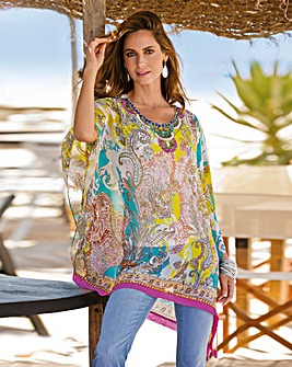 Together Beaded Neckline Kaftan