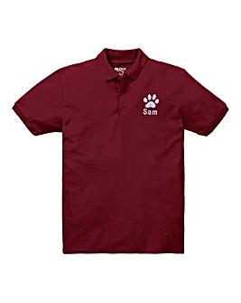 Personalised Dog Walking Polo Shirt