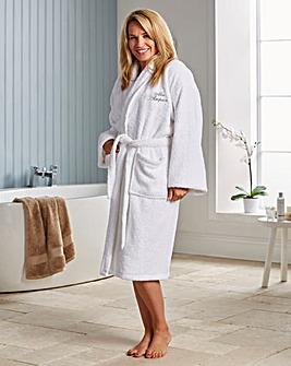 Personalised White Spa Bathrobe