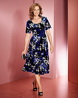 Print Velour Dress