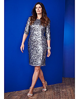 Nightingales All Over Sequin Dress