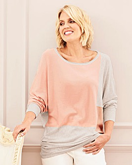 Batwing Colour Block Jumper
