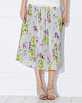 Nightingales Pleated Chiffon Skirt