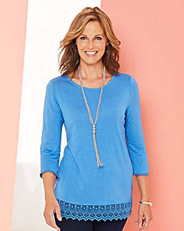 Crochet Trim Jersey Tunic