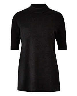 Short Sleeve Turtle Neck Jumper