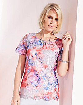 Nightingales Ombre Lace Blouse