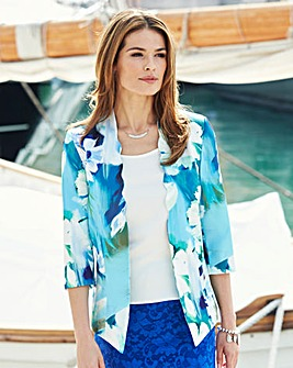 Nightingales Satin Scallop Jacket