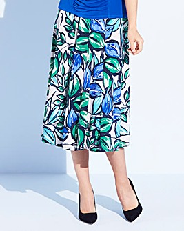 Nightingales Printed ITY Skirt