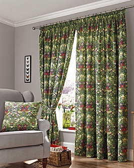 William Morris Curtains with Tie Backs