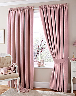Woven Damask Blackout Curtains