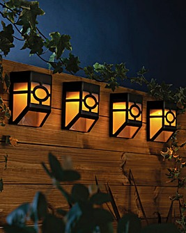 Solar Fence Lights Set of 4