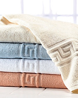 Greek Key Bath Towel