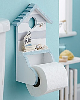 Beach Hut Toilet Roll Holder