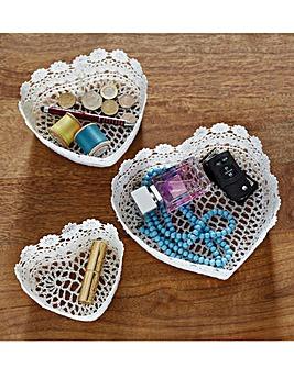 Crochet Baskets Set of 3