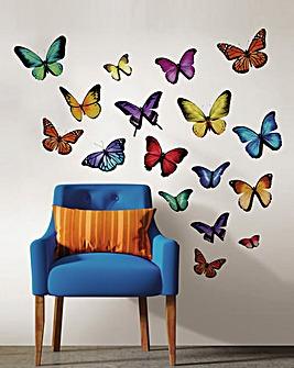 Multi Butterfly Wall Art Kit