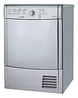 Indesit 8kg Condenser Dryer Silver