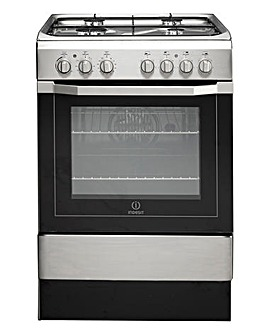 Indesit Dual Fuel Cooker Stainless Steel
