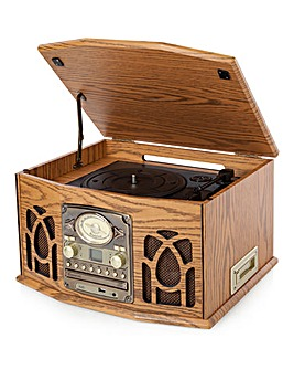 itek Retro Wooden 5 in 1 Music System