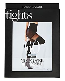 60 Denier Mock Over The Knee Tights