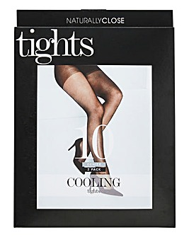 2 Pack 10 Denier Cooling Tights