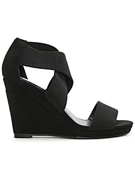 Daniel Cross Strap Wedge Sandal